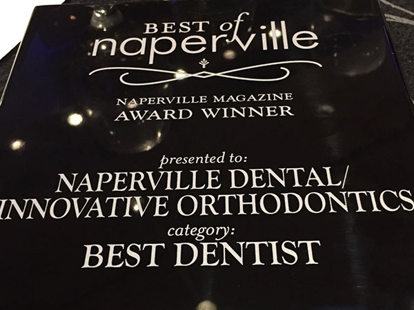 Best of Naperville Awards Dinner- BEST DENTIST WINNER!!!